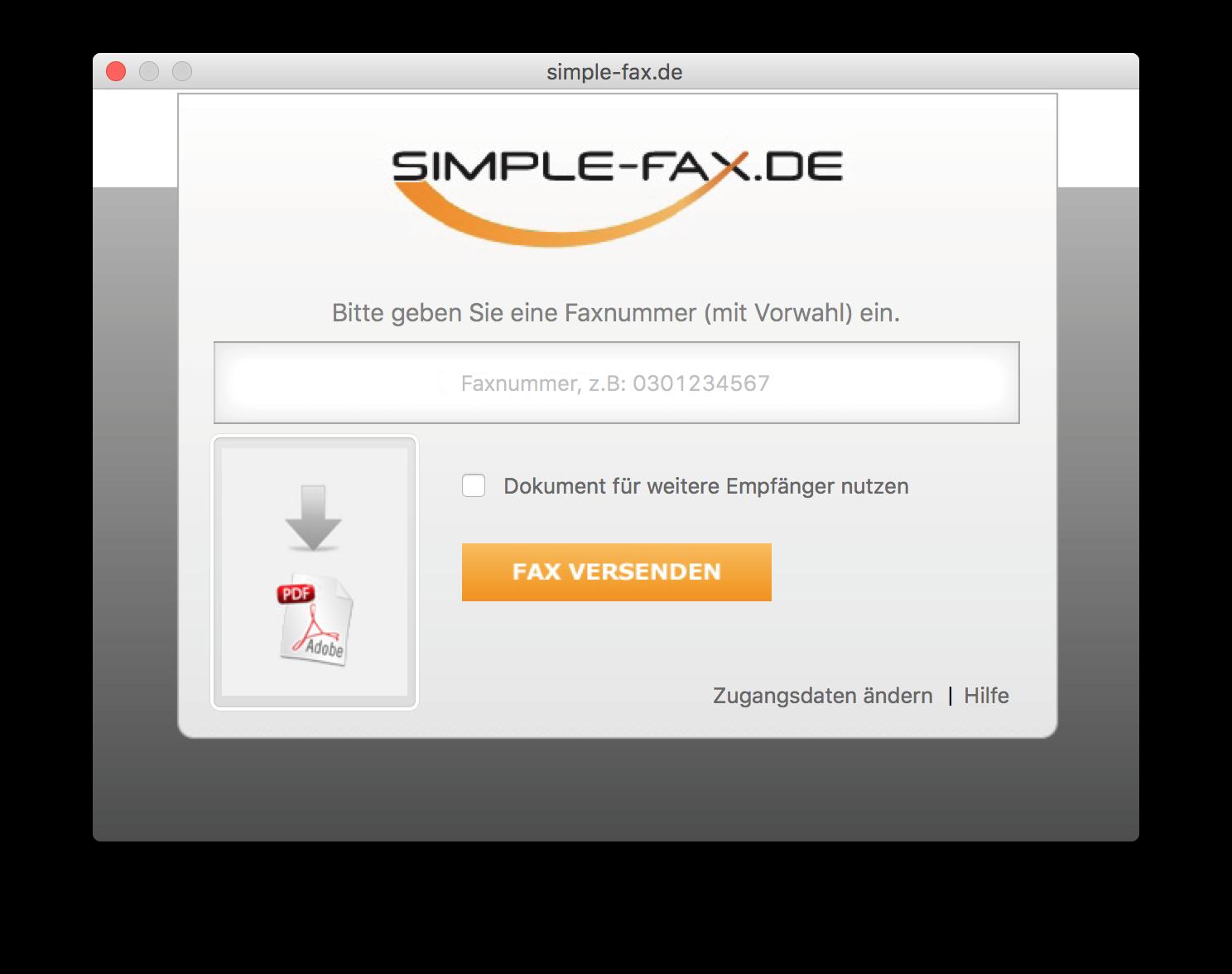 Faxdrucker Mac