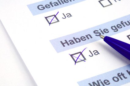 Bild Fragebogen - Fax-Studie