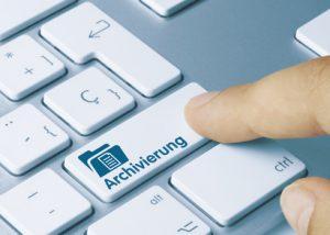 Tastatur mit Archiv für Fax
