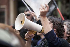 Protest mit Fax